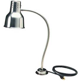 "Carlisle HL8185B00 FlexiGlow Single Arm Heat Lamp W/ Board & Pan 24"", Aluminum by"