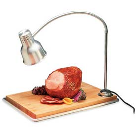 "Carlisle HL8195B00 FlexiGlow Single Arm Heat Lamp W/ Board 24"" Arm, Aluminum by"