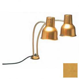 "Carlisle HL8285G21 FlexiGlow Dual Arm Heat Lamp, 24"", Gold by"
