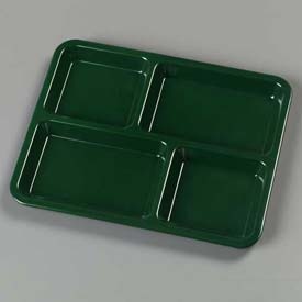"Carlisle KL44408 - 4-Compartment Tray 10-15/16"", 8-21/32"", 5/8"", Forest Green - Pkg Qty 12"