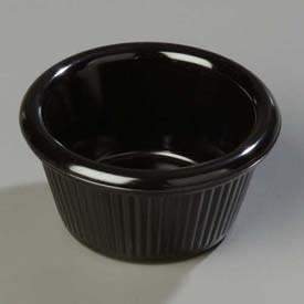 Carlisle S27903 Fluted Ramekin 2 Oz., Black Package Count 48 by