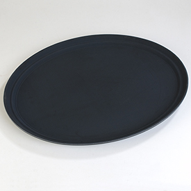 "Carlisle TB2700004 Truebasics Oval Grip Tray 27"" x 22"" - Black - Pkg Qty 12"