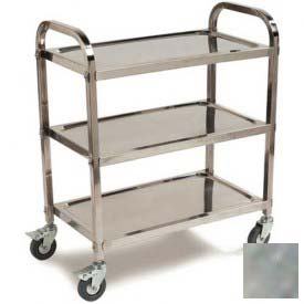Carlisle UC4031529 Stainless Steel Knockdown Utility Cart 400 Lb Cap 15x29 by