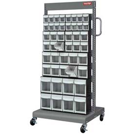 Shuter Flip Out Bin Mobile Cart with 46  Flip Out Bins