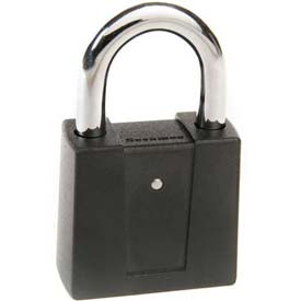"Ccl Security Sesamee® Diecast Black Padlock, 10,000 Combo, 1"" Steel Shackle - Pkg Qty 5"