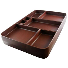 Cortech USA, 3000C, X-Tray Food Tray, Insulated, Chocolate, 10/Pack by
