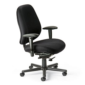 Cortech USA 24/7 Extreme HD Task Chair with 1A Arms - Sapphire  Interweave Fabric