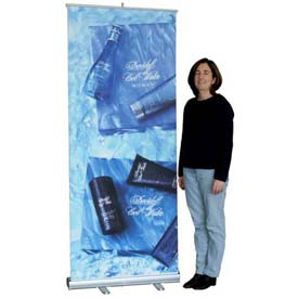 "SpeedPress® Slim Line Roll Up Banner Holder 34"" Wide"