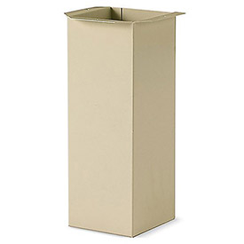 "Durham Boxed, Painted 16-Gauge Steel Pedestal Base - 6""W X 6""D X 16--3/4""H Putty"