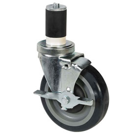 "John Boos 5"" Polyolefin Casters For 304 Stainless Steel Worktables For 48"",... by"