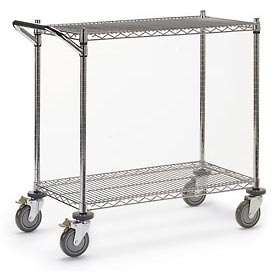 "Relius Solutions Wire Utility Carts With Chrome Finish - 48""Wx24""D Shelf - 40""H"