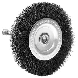 "Century Drill 76443 Drill Radial Wire Brush 4"" Dia. Steel Crimped by"