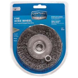 "Century Drill 76843 Bench Grinder Wire Wheels 4"" Dia. Steel Crimped by"