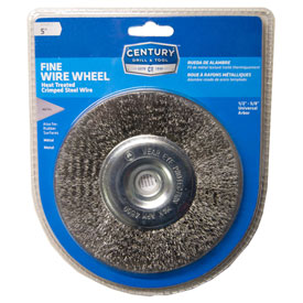 "Century Drill 76853 Bench Grinder Wire Wheels 5"" Dia. Steel Crimped by"