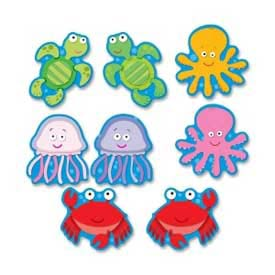 Carson-Dellosa® Sea Life Cut-Outs, Multi-Color, 36/Pack