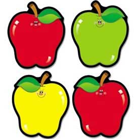 "Carson-Dellosa® Apple Cut-Outs, 4-1/2"" x 5-1/2"", 3 Colors, 36 Pieces/Pack"