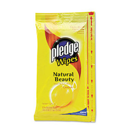 "Pledge Lemon Wet Wipes 7"" X 10"", 24 Wipes/Pack - 624489PK"