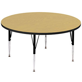 "Activity Tables, 36""L x 36""W, Standard Height, Round - Fusion Maple"