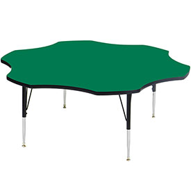 "Activity Tables, 60""L x 60""W, Standard Height, Flower - Green"