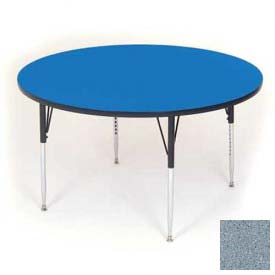 "Activity Tables, 60""L x 60""W, Juvenile Height, Round - Gray Granite"