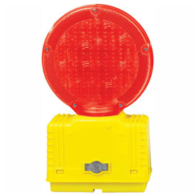 Cortina Solar Barricade Light, Yellow Body, Red Lens, 03-10-RSBL by