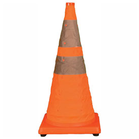 """Cortina 28"""" Pack N Pop Collapsible Traffic Cone, Orange, Plastic Base, 03-501-01 by"""