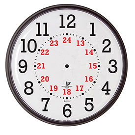 "Buy 12-3/4"" Wall Clock, Slimline 12/24-Hour Quartz"