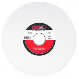 """CGW Abrasives 34678 White Aluminum Oxide Surface Grinding Wheels 8"""" 60 Grit Aluminum Oxide Package Count 10 by"""