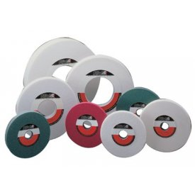 """CGW Abrasives 34689 White Aluminum Oxide Surface Grinding Wheels 8"""" 60 Grit Aluminum Oxide Package Count 10 by"""