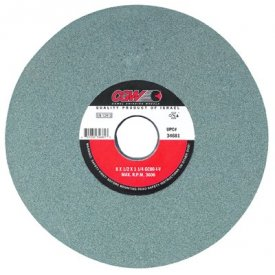 """CGW Abrasives 34705 Green Silicon Carbide Surface Grinding Wheels 8"""" 100 Grit Aluminum Oxide Package Count 10 by"""