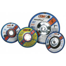 "CGW Abrasives 35619 Depressed Center Wheel 4-1/2"" x 1/8"" x 5/8 - 11 Type 27 24 Grit Silicon Carbide - Pkg Qty 10"