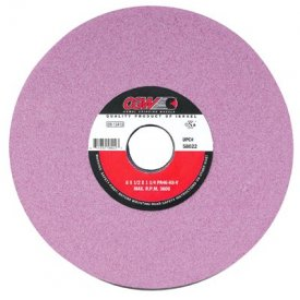 """CGW Abrasives 58019 Pink Surface Grinding Wheels 8"""" 46 Grit Aluminum Oxide Package Count 10 by"""