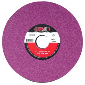 "CGW Abrasives 59006 Ruby Surface Grinding Wheels 8"" 46 Grit Aluminum Oxide Package Count 10 by"