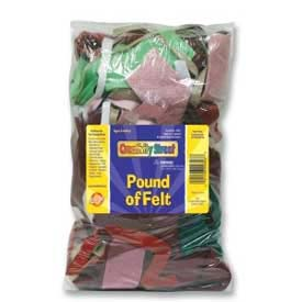 Chenille Kraft® Pound of Felt, Assorted