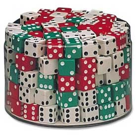 "Chenille Kraft® Drum of Dice, 5/8"" Cubes, 144 Pcs"