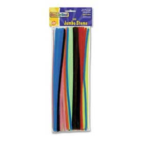 "Chenille Kraft® Jumbo Stems, 6mm x 12""L, 100/Set, Assorted"