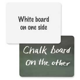 "Chenille Kraft® 2-in-1 White Board/Chalkboard Combo, 12""W x 9""H, White/Green, 1 Each"