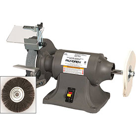 """Palmgren 9682069 Bench Grinder Buffer W/Wheel Guards & Dust Collection Ports, 8"""" Wheel Dia by"""