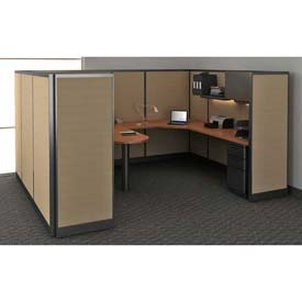 "Compatico CMW Manager Work Station w/ Electric 96""W x 120""D x 65""H - Winter Birch Taupe"