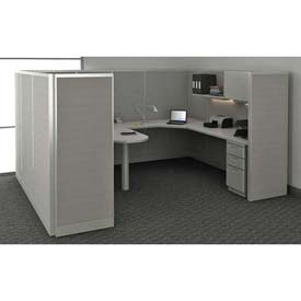 "Compatico CMW Manager Work Station w/ Electric 96""W x 120""D x 65""H - Dove Gray"