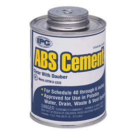Low V.O.C. Abs Cement™, For Pipe & Fittings, 1 Pt. - Pkg Qty 12