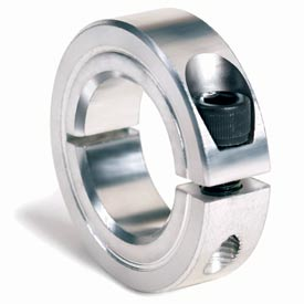 "One-Piece Clamping Collar, 1/4"", Zinc Plated Steel"