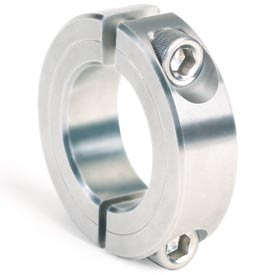 """Two-Piece Clamping Collar, 1/4"""", Stainless Steel"""