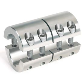 "Two-Piece Industry Standard Clamping Couplings w/Keyway, 3/8"", Stainless Steel"