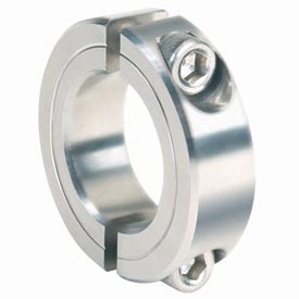 "Corrosion Resistant Two-Piece Clamping Collar CR, 1-1/4"", 316 Stainless Steel"