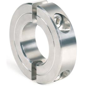 "Two-Piece Clamping Collar Recessed Screw, 1/4"", Stainless Steel"