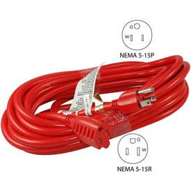 Conntek 20241-050, 50',15A, 14/3 SJTW Outdoor Extension Cord with NEMA 5-15P/R by