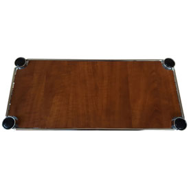 "Chadko WC 41 Wood Grain Plastic Shelf Liner - 18""W x 12""D Cherry"