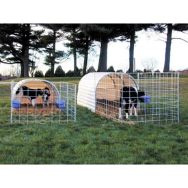"Small Animal Hut 4'6""W x 4'10""H x 8'2""L"