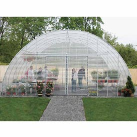 Clear View Greenhouse Kit 26'W x 12'H x 28'L - Propane